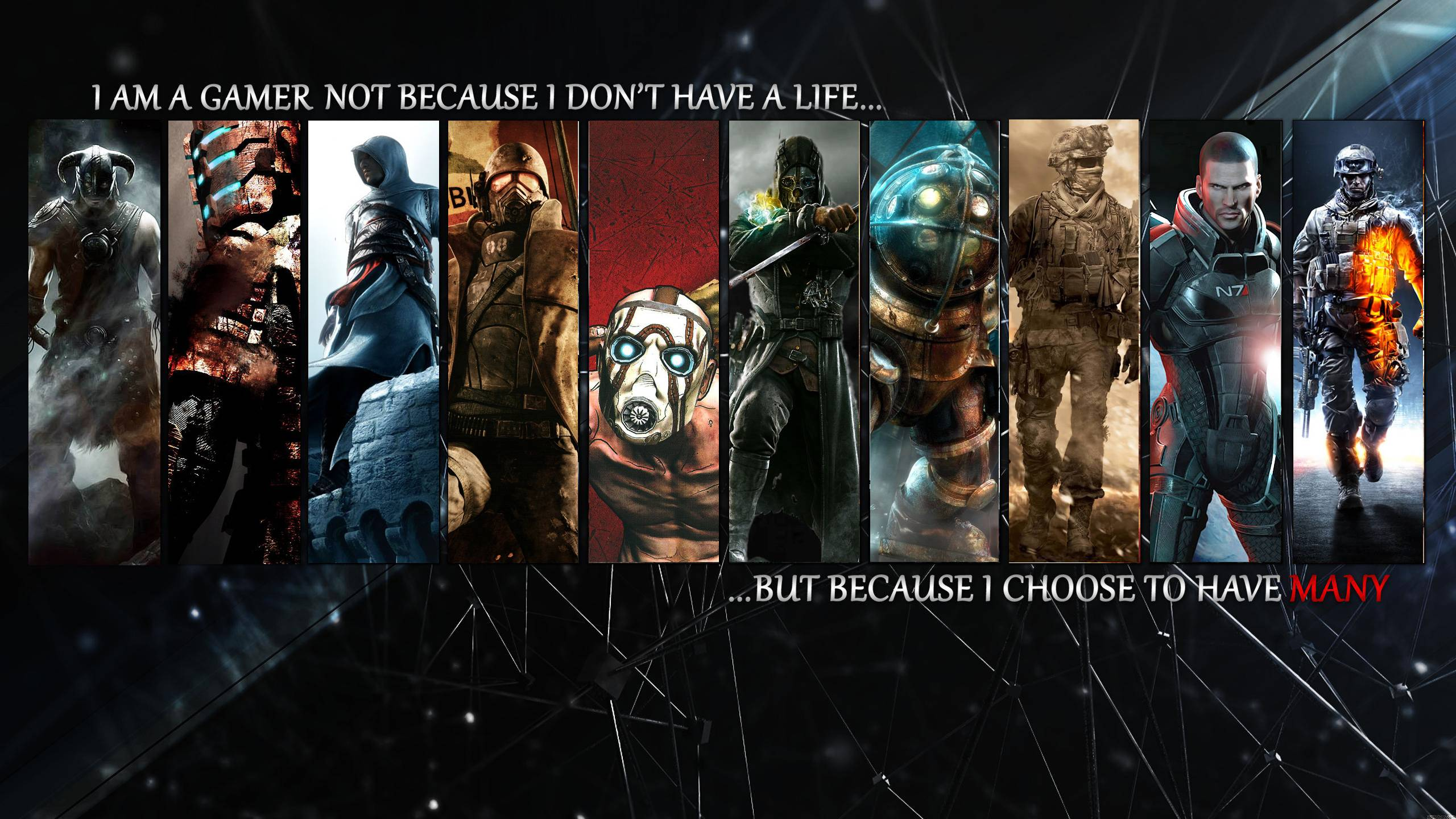 I am a gamer not because i don t have a life but because i for I don t have a closet